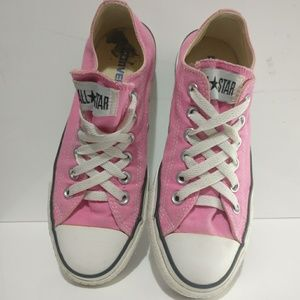 Pink Converse All Star Shoes Unisex